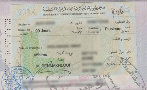 Visum Algerije