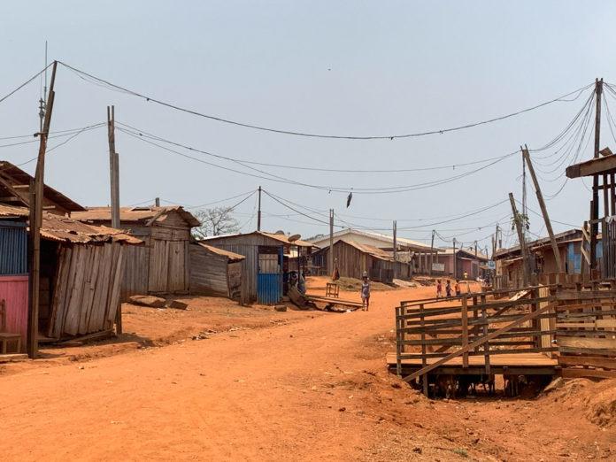 Libongo hoofdstraat Kameroen