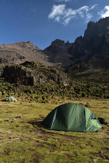 Mount Kenya National Park kamperen